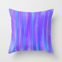 Moonlight Blue Purple and Fuschia Watercolor Throw Pillow
