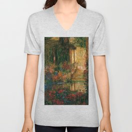 'Garden of Enchantment from Parsifal' by Thomas Mostyn Unisex V-Neck