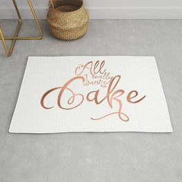 All I want is cake Rug