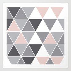 Tri quartz gray big Art Print