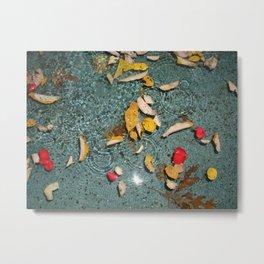 Floating Fall Metal Print