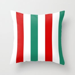 Large Peppermint Stick Stripes | Red Green and White | Vertical  Throw Pillow