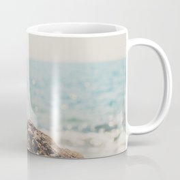 """the """"dreamer"""", a mint green camera with the ocean behind it Coffee Mug"""