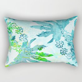 Tropical adventure - Blue Rectangular Pillow