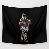 boba Wall Tapestries featuring Boba Font by Fabian Gonzalez