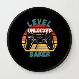 Level Unlocked Baker Wall Clock