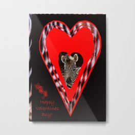 Happy Valentine's Day - Too Cute Metal Print