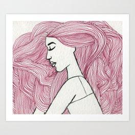 Bed hair  Art Print