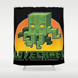 Minecraftian Shower Curtain
