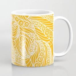 White and Yellow Feathers Coffee Mug