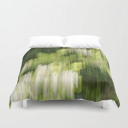 Green Hue Realm Duvet Cover