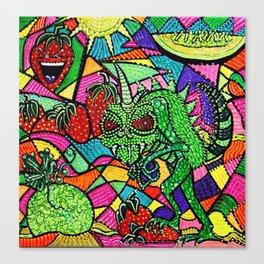 Chupacabra Loves Strawberry Melon Canvas Print
