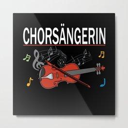 Choir Singer Lover Gift Idea Design Motif Metal Print