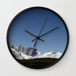 Torres del Paine Wall Clock