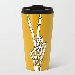 Peace and Love - pop Catrina bone hand Travel Mug