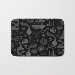 Grey and Black Science Pattern Bath Mat