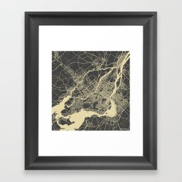 Montreal Map Framed Art Print
