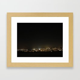 Baumholder at Night Framed Art Print