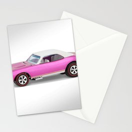 Hot Wheels Pink Party 427 SS Pony Car 67 Redline with white hardtop Stationery Cards