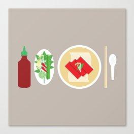 Sriracha Meal Canvas Print