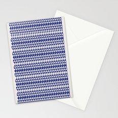 Blue Folk Art Stationery Cards