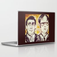 dwight Laptop & iPad Skins featuring Michael & Dwight by Melissa Dilger