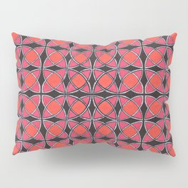 Abstract floral pattern in stained glass art style Pillow Sham
