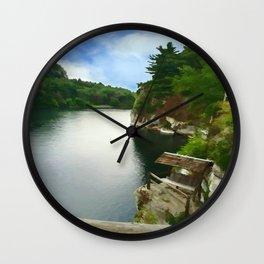 Majestic Mohonk Lake Wall Clock