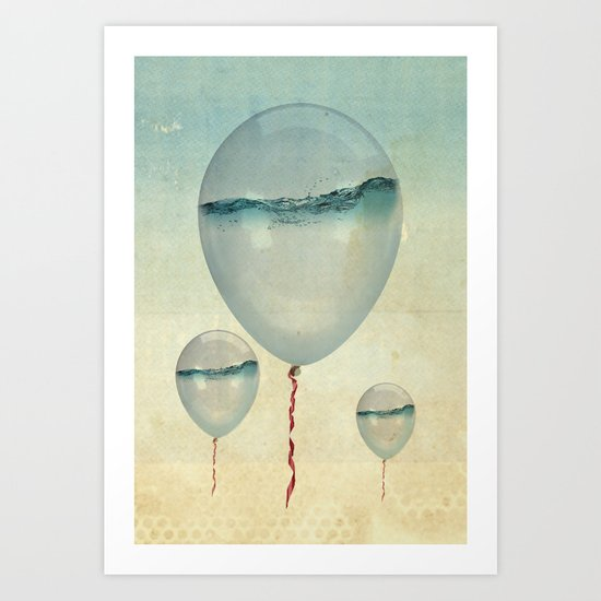 Wet Weather balloons Art Print