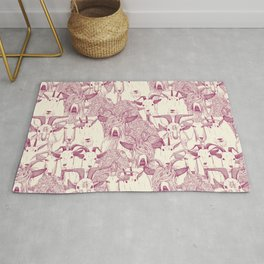just goats cherry pearl Rug