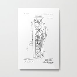 Wright Brothers Patent: Flying Machine Metal Print