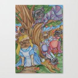 Pug in Wonderland Canvas Print