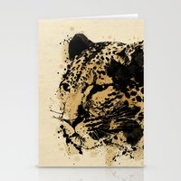 leopard Stationery Cards featuring Leopard by DIVIDUS DESIGN STUDIO