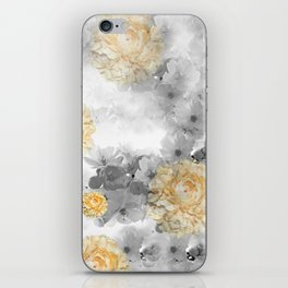 CHERRY BLOSSOMS AND YELLOW ROSES iPhone Skin