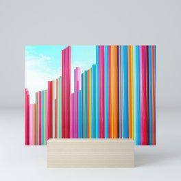 Colorful Rainbow Pipes Mini Art Print