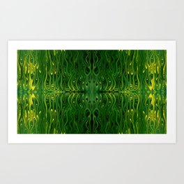 Corn Field Squid by Chris Sparks Art Print