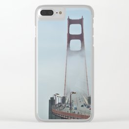 golden gate skies Clear iPhone Case
