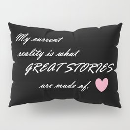 Current Reality - Script Pillow Sham