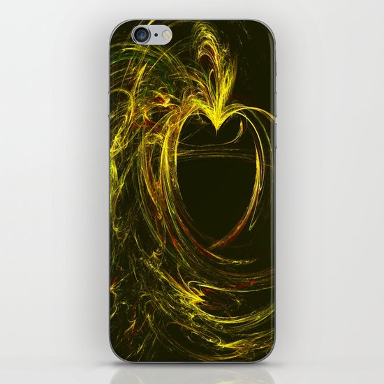 Golden Heart iPhone & iPod Skin
