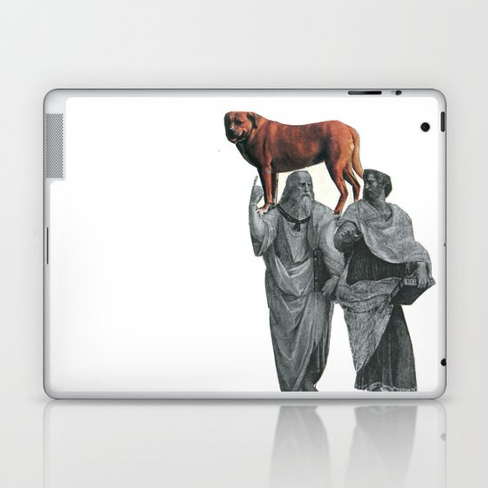plato n aristotle walking their doge Laptop & iPad Skin