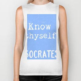 Know thyself. Socrates quote 3 Biker Tank