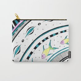 Fish Doodle Funky Pattern Chic Ink Carry-All Pouch
