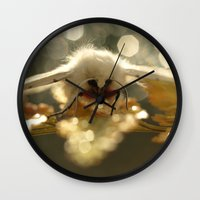 moth Wall Clocks featuring Moth by Nature In Art...