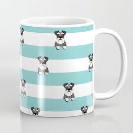 schnauzer stripes dog breed gifts Kaffeebecher
