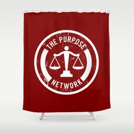 The Purpose Network (RED) Shower Curtain