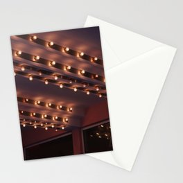 Cinema light bulbs vintage cinema lights Stationery Cards