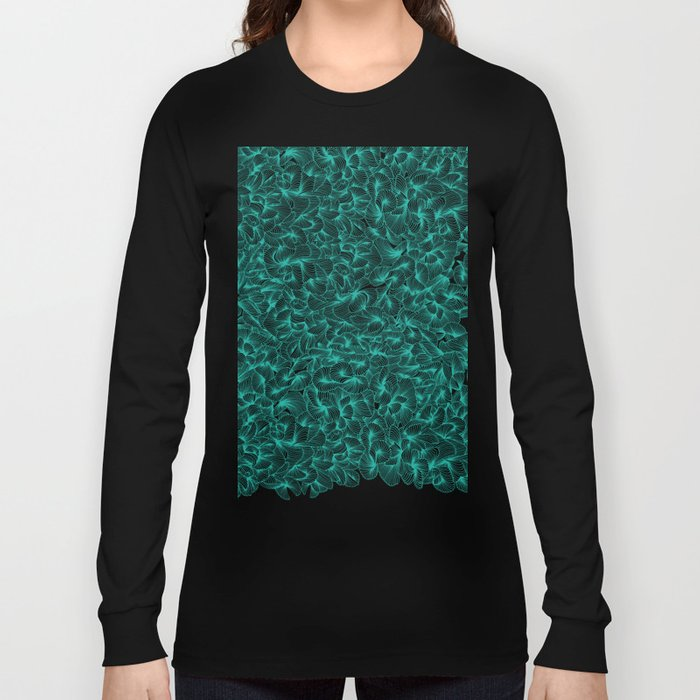 Abstract Pattern – Turquoise Long Sleeve T-shirt