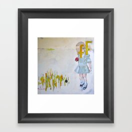 deciding to resist fear Framed Art Print