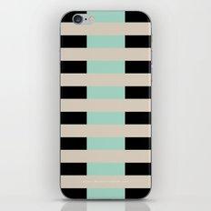 Tan Black Mint Checkerboard iPhone & iPod Skin