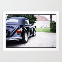 volkswagon Art Prints featuring Vintage Volkswagon Beetle by istillshootfilm